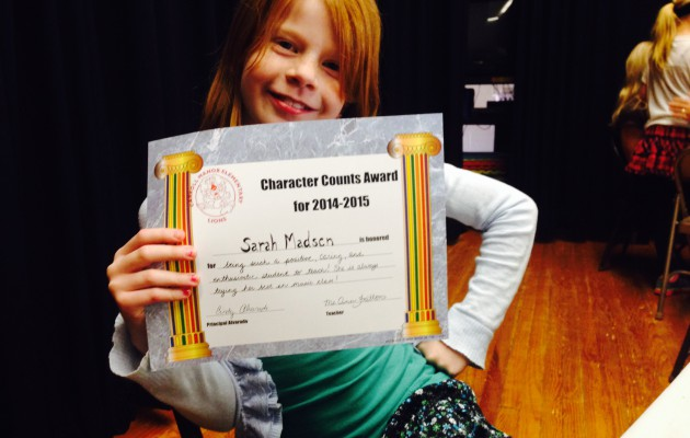 Character counts ceremony