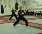 Lise er nu rød bælte i karate.