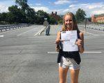 Trine har fået kørekort
